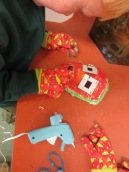 Students Added Found Objects to their Masks